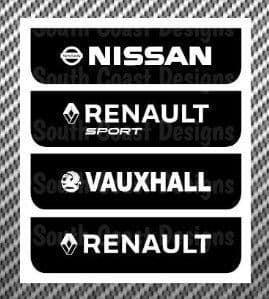 Renault Pair Of Carbon Fibre Sill Decals With Choice Of Colour